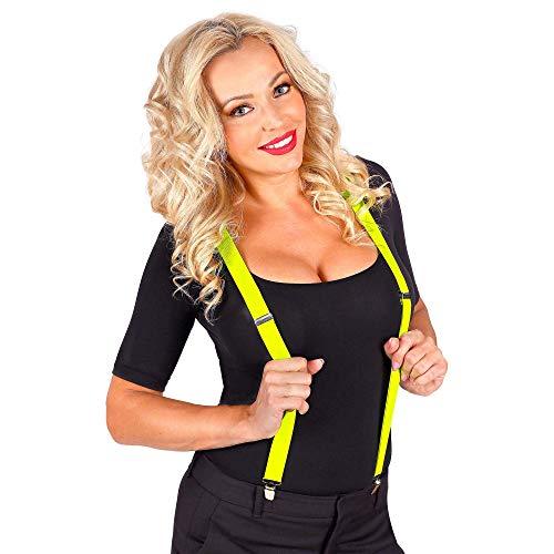 Widmann 01367 Neon Hosenträger, Unisex– Erwachsene, Neongelb, Einheitsgröße