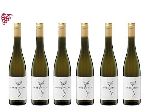 6er Vorteilspaket Vinho Verde Conde Villar Branco 2019   Quinta das Aktas   Weißwein aus Portugal   trocken   6 x 0,75l   mit Weinausgießer Dropstopp