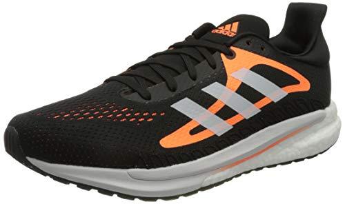 adidas Solar Glide M, Zapatillas para Correr Hombre, Core Black/FTWR White/Screaming Orange, 40 2/3 EU