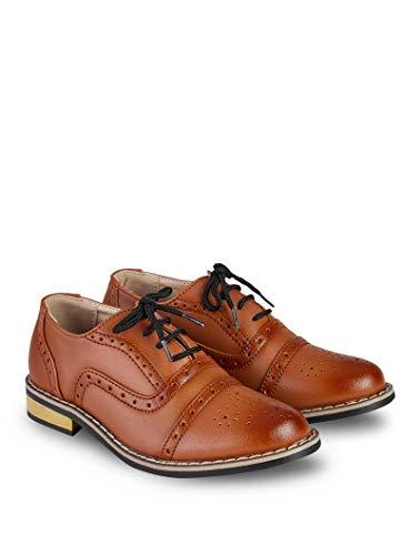 V.C. Festliche Jungen Anzug Schuhe Hochzeit Kommunionschuhe braun 35
