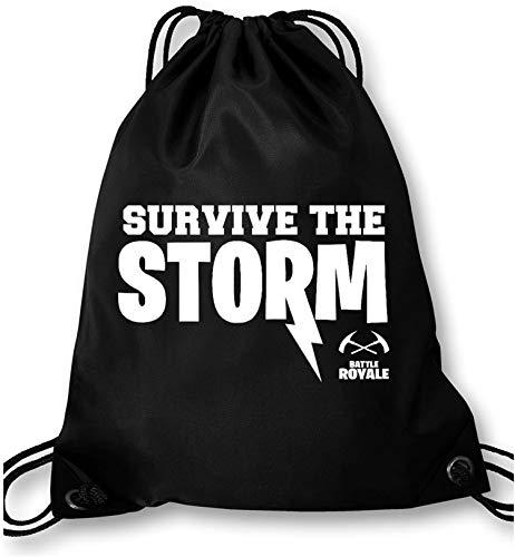 EZYshirt® Survive the Storm Battle Royal Turnbeutel