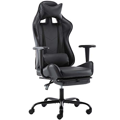 SMUGDESK Gaming Chair with Footrest Ergonomic Office Chair High Back...