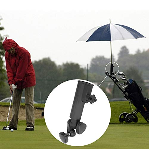 Eastbuy Paraplu Basis - Golf Paraplu Stand Houder Plastic Stand Pull Bike Cart Universele Push Trolley Paraplu Houder (Zwart)