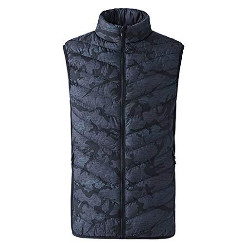 KPILP Beheizte Jacken Herren Weste Heat Jacke Warme Winterjacke Steppweste Ärmelos Outdoor Kleidung für Camping Wandern und Schifahren mit Stehkragen