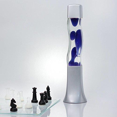 Lavalampe Blau Magmalampe Lavaleuchte Lavalampe 41cm Lavalampe E14 25W mit Kabelschalter Geschenkidee Weihnachten inklusive Leuchtmittel Retro Leuchte