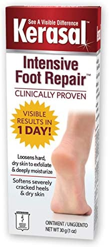 Kerasal Intensive Foot Repair, Skin Healing Ointment for Cracked Heels and Dry Feet, 1 Oz
