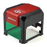 KKmoon Incisione Stampante Automatico K3 3000mW USB DIY Carving Incisore Artigianato Utensili per la Combustione del Legno con 80 * 80mm Ampia Area di Incisione per Win XP / 7/8/10