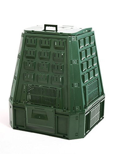 Garten Komposter 630L Grün Thermokomposter Kompostbehälter Kunststoff