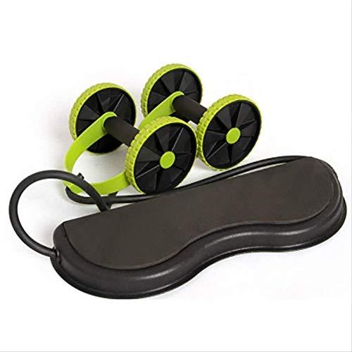 Plztou Músculo Abdominal del Ejercicio de la Rueda Equipo Home Fitness Equipment Rueda Doble Abdominal Poder Rueda AB Roller Roller Training (Color : Green, Talla : 43 * 16 * 5cm)