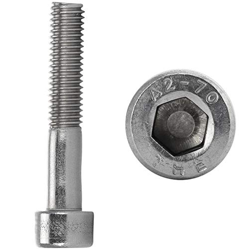 FASTON® Tornillos cilíndricos con hexágono interior M3 x 4 mm, acero inoxidable A2 V2A (4 unidades), tornillos de cabeza cilíndrica DIN 912, tornillos de cabeza hexagonal interior inoxidable