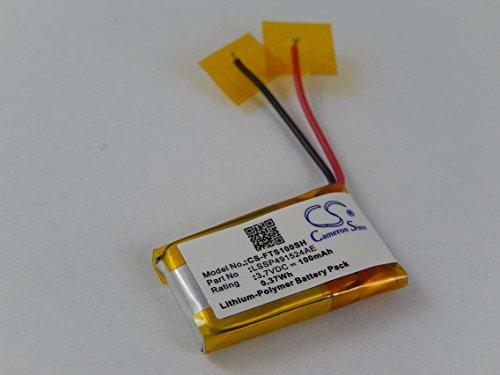 vhbw Batería Li-Polymer 100mAh (3.7V) para Pulsera Fitness Fitbit Surge como LSSP491524AE.