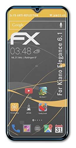 atFolix Panzerfolie kompatibel mit Kiano Elegance 6.1 Schutzfolie, entspiegelnde & stoßdämpfende FX Folie (3X)