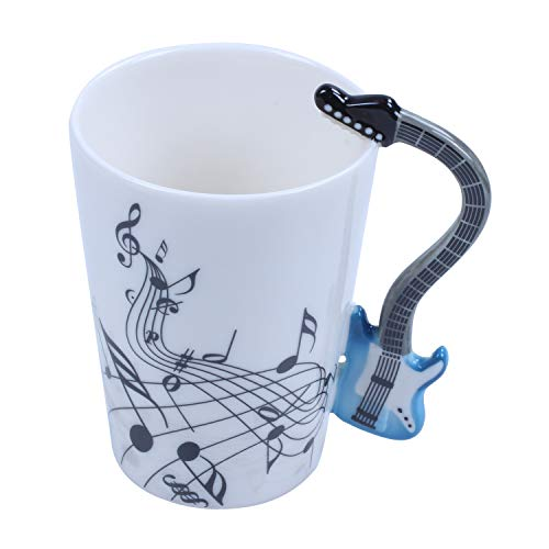 Kaxofang 300ML Guitar Cup Music Note CeráMica AcúStica Café Leche Té Taza...