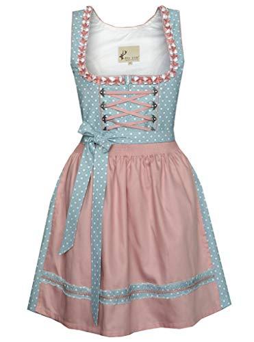 Alte Liebe Trachtenkleid 2tlg. Dirndl Kleid, Petrol Blau, 40