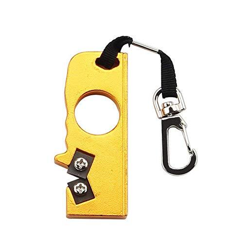 Couteau Portable Sharpener - Mini poche porte-clés avec anneau Pliable Couteau Affûtage, Pierre Affûtage extérieur for la survie Chasse Pêche Randonnée Camping