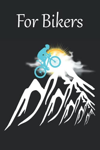 Notebook for Bikers quad/ graph paper: This beautiful handy graph or quad paper notebook with the turquoise mountain biker, the mountain and sun on ... cyclists, bicycle riders and mountain bikers)
