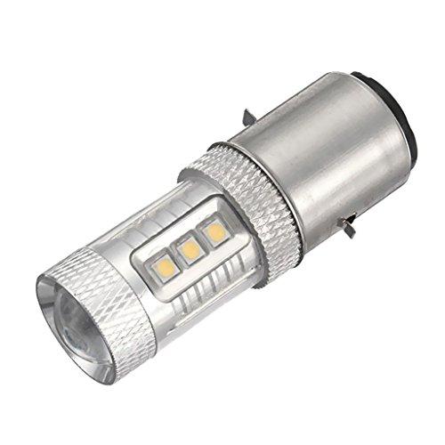 Gazechimp Ampoule Phare Feux Avant Headlight 6000K LED BA20D H6 H L 80W ATV MOTO