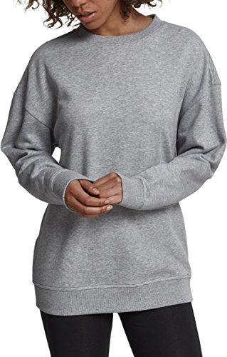 Urban Classics Damen Ladies Oversize Crewneck Pullover, Grau (Grey 00111), Large
