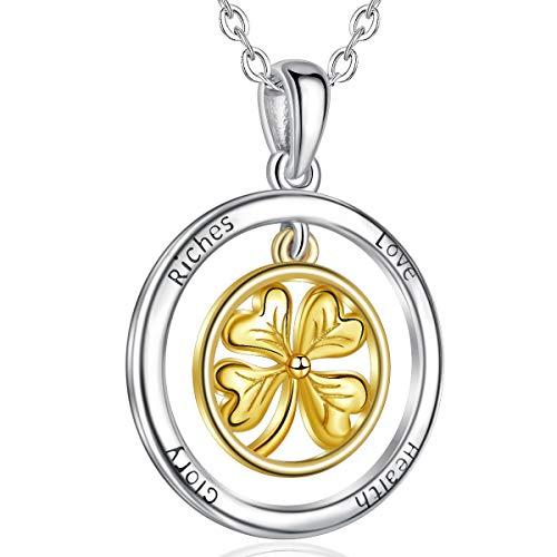 CELESTIA Blume des Lebens Halskette 925 Silber Heilige Geometrie Anhänger mit Kette 46CM, Schmuck Geschenke für Damen Mädchen Mutter Tochter Ehefrau