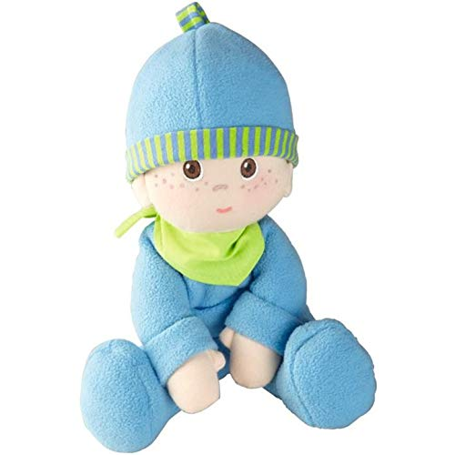 HABA Snug-up Doll Luis 8″ First Boy Baby Doll – Machine Washable for Ages Birth and Up