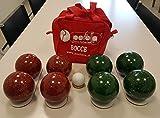 Perfetta Mini Game 100mm Mix, Set Bocce per Il Tempo Libero Gioventù Unisex, Rosso Verde Scuro puntinato