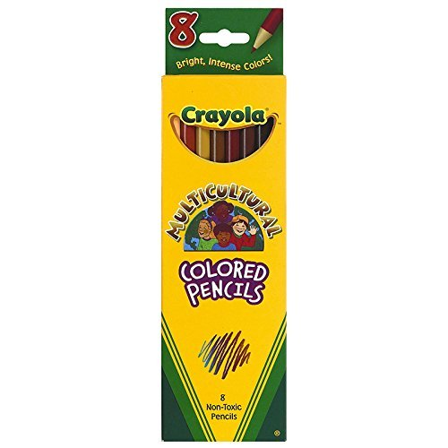 CRAYOLA LLC CRAYOLA MULTICULTURAL 8 CT COLORED (Set of 12)