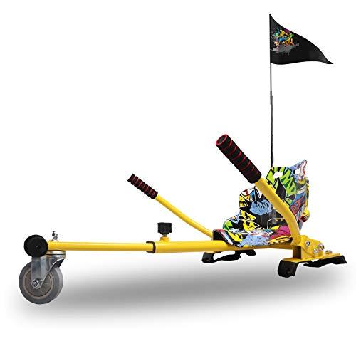 CITYSPORTS Hoverboard Sitz Hoverkart Go Kart for All Hoverboard Electric Scooter Hover Sitz Roller kompatibel mit 6,5, 8, 10 Zoll einweg