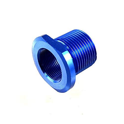 New Journey Essential Thread Convert 1/2x28 Thread to 5/8x24 Thread Blue Color Aluminum Convert (Blue)