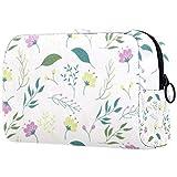 Bolsos de maquillaje portátil de flores de hoja caduca bolsa de cosméticos impresa,Bolsa de cosméticos para mujeres Bolsa de cosméticos de viaje