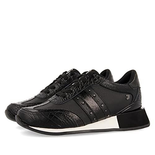 Sneakers Negras con cuña para Mujer Landau