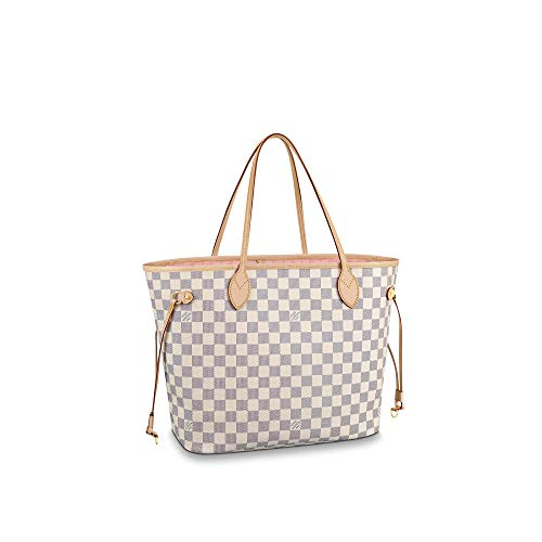 Louis Vuitton Neverfull MM Damier Azur Bags Handbags Purse (Rose Ballerine)