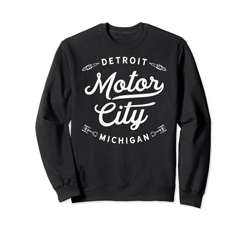 Classic Detroit Motor City Michigan Retro Auto Souvenir Sudadera