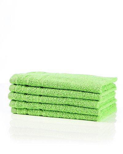 myHomery Handtuch Set bestehend aus Gästehandtücher, Duschtuch, Saunatuch und Badetuch - Saunahandtuch XXL - Handtücher Grün | 5er-Set Gästehandtücher