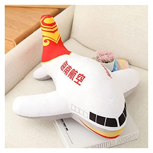 JUNMAIDZ Juguete de Peluche Simulación de Gran tamaño Aeroplano Peluche Juguetes Niños Dormir Atrás Cojín Aviones Suave Relleno Decoración (Color : 6, Height : 80cm)