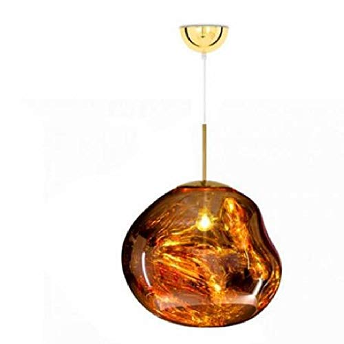 Lámparas colgantes irregulares de lava de vidrio de la novedad Lámpara colgante de fusión de cobre/oro/plata E27 Lámpara colgante de dormitorio