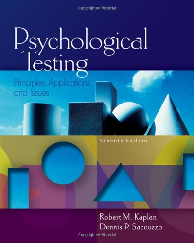 Psychological Testing: Principles, Applications, and...