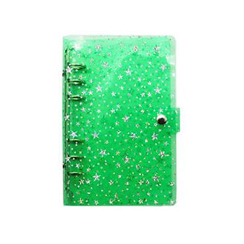 DAXINYANG Star Transparent Binder Notebook Diary Planner Office Stationery Gift,10,A5