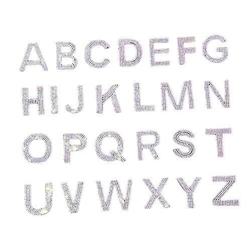 oshhni 26 Piezas de Parches de Letras, Coser en a-Z, Parches de...