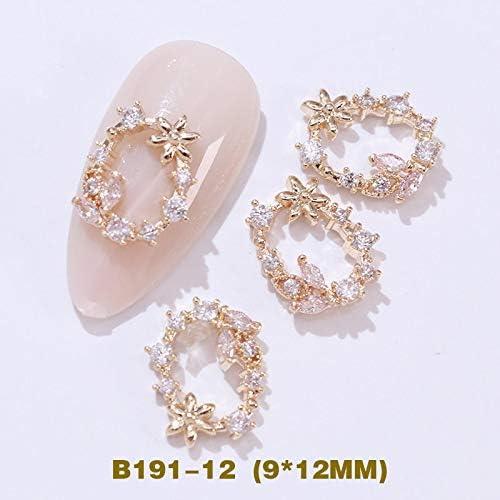 JYEMDV Washington Mall 5pcs 3D Metal Zircon Diamond Max 76% OFF Art Nail Decorations