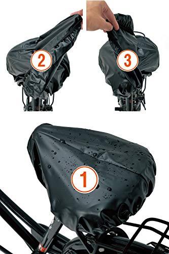 【メディア掲載あり!】 [自転車に乗る ママ 会社員 すべての方を雨から守ります] 2回めくれる サドルカバー GUAPO 自転車 防水 [いろんな形のサドルに対応可能]