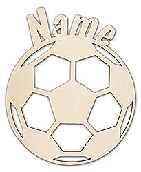 Schlummerlicht24 3d Led Fussball-Motiv Geschenke Nachtlicht Lampe Fußball mit Name für Junge und Mädchen Fussball-zimmer