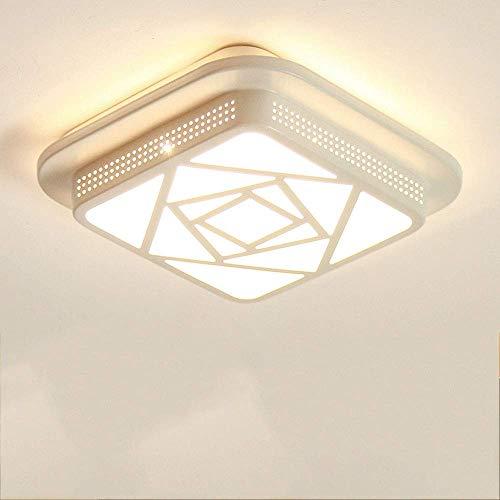SXLCKJ Lámpara de Techo, luz de Techo LED de 18 W, 24x24 cm, lámpara de atenuación de Tercer Engranaje Ultrafina, Moderna, súper Brillante, para Sala de Estar (luz)