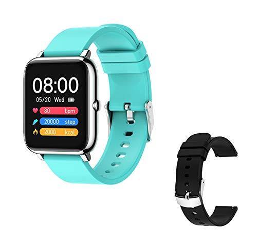XUEXIU Smart Watch Waterproof Fitness Sport Watch P22 Rastro del Corazón Rastreador Call/Message Recordatorio Bluetooth Smartwatch para Android iOS (Color : Gold)
