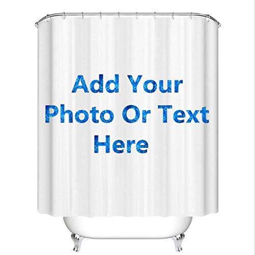 LI&DD Personalized Custom Bathroom Shower Curtain 48x72-Add Your Own Designs Photo Here