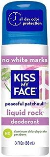 Kiss My Face Paraben Free Liquid Rock Roll-On Deodorant, Patchouli - 3 oz - 2 pk