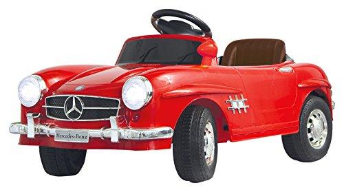 Jamara 405037 - Ride-on Mercedes 300SL rood 27MHz 6V - Krachtige aandrijfmotor en accu voor lange rittijd, ultra-grip rubberen ring op aandrijving, claxon, aansluiting van audiobronnen