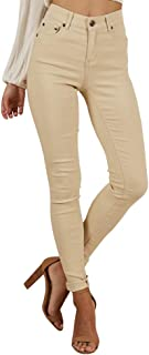 Women's Skinny Junior Classic Strench Denim Jeggings High Waisted Pencil Carpi Jeans