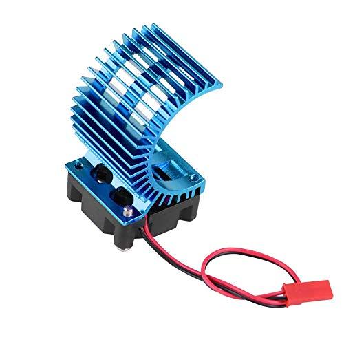 Dilwe RC-Motor Kühlkörper, Kühlkörper mit Lüfter für 1/10 Elektro-RC-Motor mit 540/550-Motor( Blau)