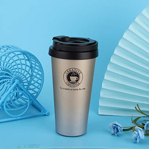 Changor Copa de vacío de Oro, con Acero Inoxidable y Aislamiento térmico PP 500 ml de Acero Inoxidable.