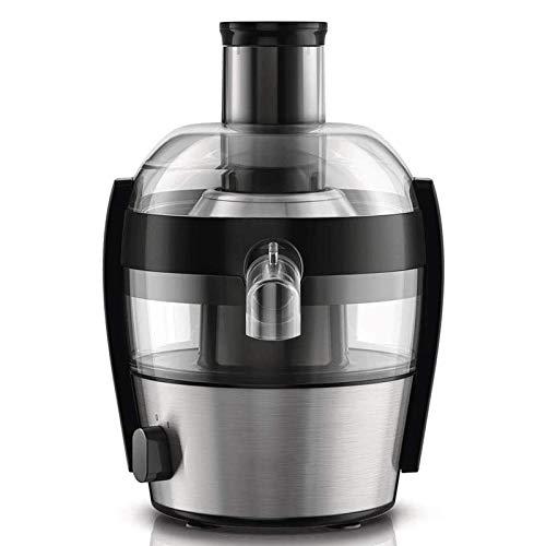 YFGQBCP Diseño de 500 vatios de Juicer, diseño liviano y Anti de Goteo de Aluminio Cepillado 1.5 litros